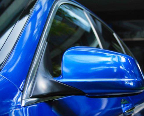 blue gloss matellic vinyl car wrap