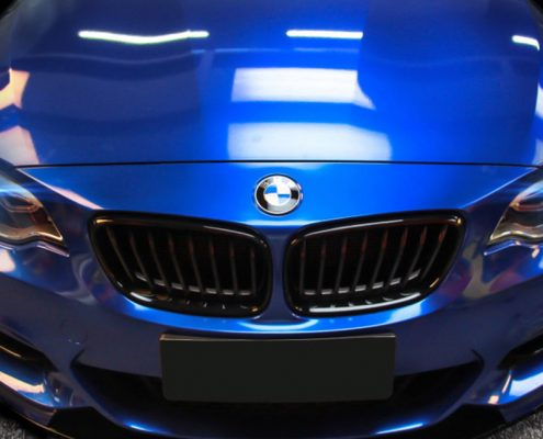 blue gloss matellic vinyl wrap for car decoration