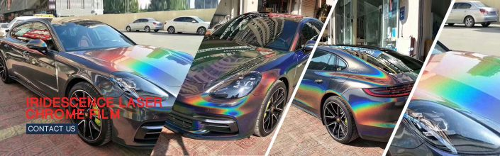 iridescence Laser chrome vintl pvc film for car