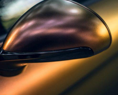matte red gold chamelemon vinyl wraps car sticker