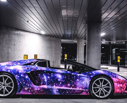 WRAPMASTER galaxy vinyl car wrap pvc film