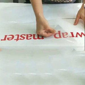 cutting vinyl for door
