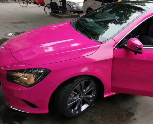 rose red super gloss crystal vinyl wrap pvc film for wholesale