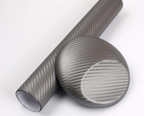 3D GREY carbon fiber vinyl car wrap