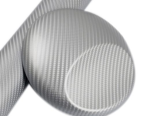 4D SILVER carbon fiber vinyl wrap for sale