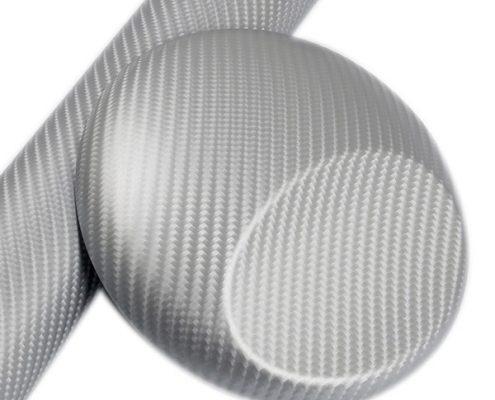 4D SILVER carbon fiber vinyl wrap for sale
