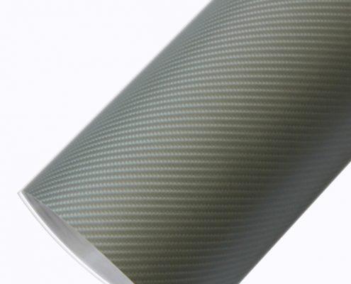 4d silver carbon fiber car wraps 4D03