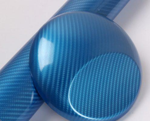 5D BLUE carbon fiber vinyl wrap