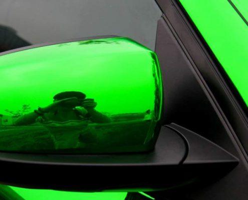 High stretchable mirror chrome vinyl