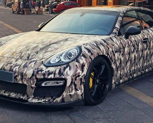 camouflage automotive vinyl wrap