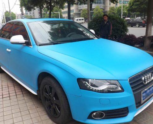 car decoration matte blue vinyl wrap