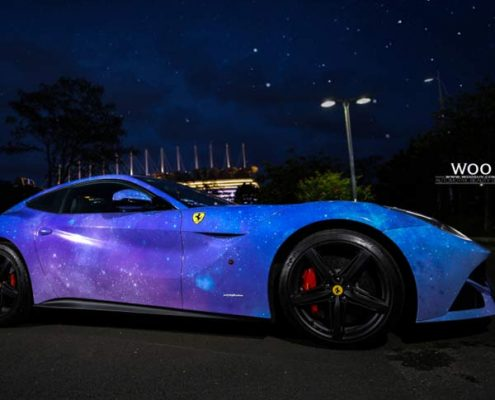 car vinyl wrap pvc galaxy sticker