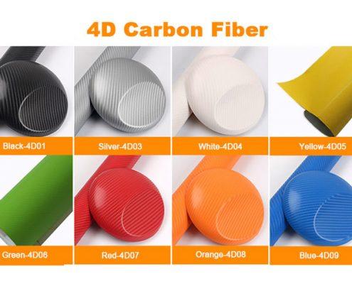colors 4d carbon fiber vinyl film