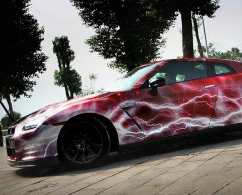 fashion galaxy lighting vinyl car wrap