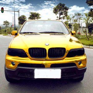 gold chrome vinyl car wrap film