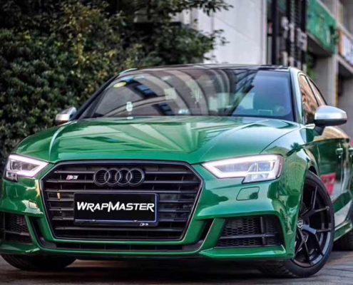 green crystal car wrap