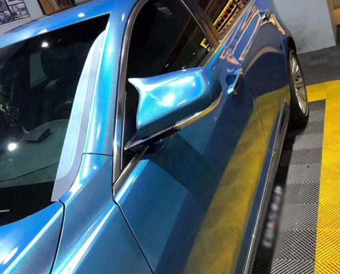 iridescence vinyl blue car wrap for sale