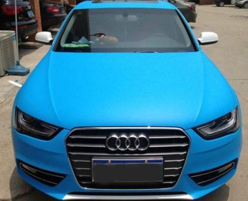 matte blue car wrap vinyl sticker