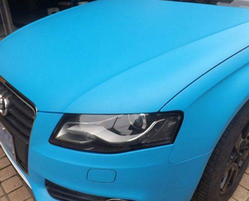 matte blue vinyl car wrap film