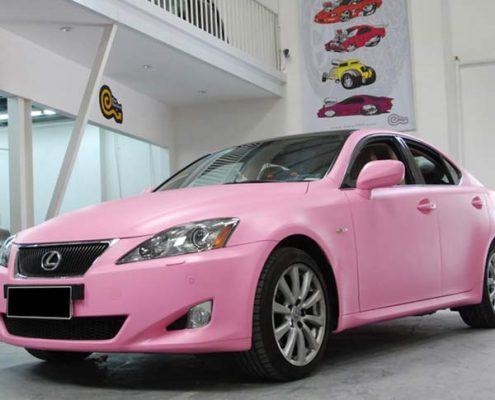 matte car vinyl wrap pink