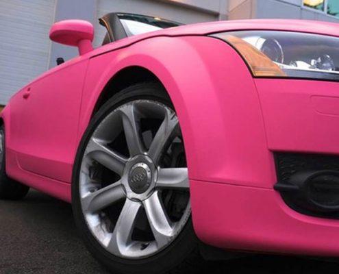matte rose red vinyl car wrap for wholesale