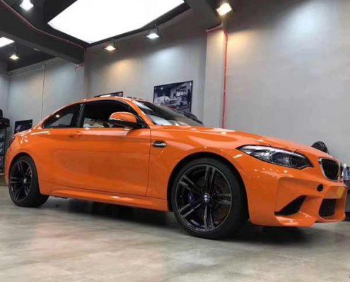 orange crystal car wrap