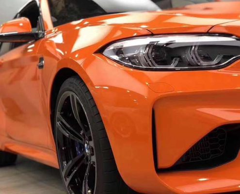 orange crystal vinyl car wrap