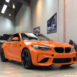 orange crystal vinyl car wrap for sale
