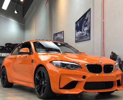 orange crystal vinyl car wrap for sale
