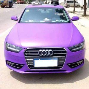 purple matte car wrap for sale