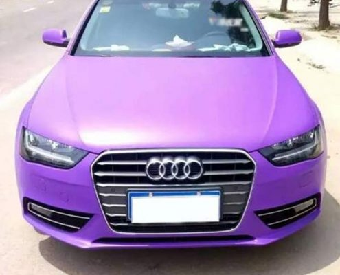 purple matte car wrap for sale