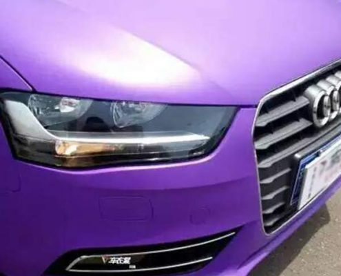 quality matte purple vinyl car wrap