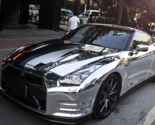 sliver chrome vinyl wrap for car