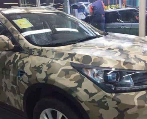 vinyl car camouflage wrap
