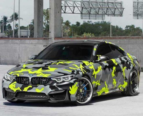 124-4 car vinyl wrap sticker camouflage