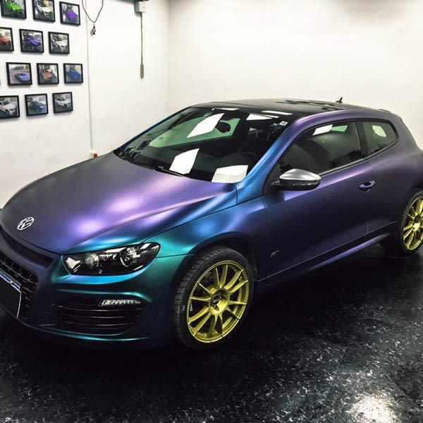 chameleon car wrap purple to blue film