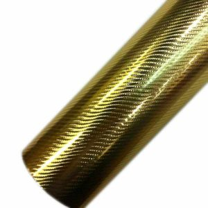 chrome 4d carbon fiber car wrapping vinyl gold
