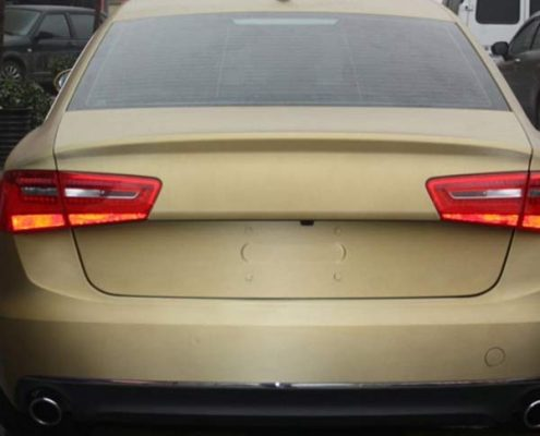 gold matte wrap brush car sticker