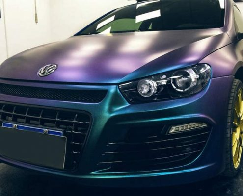 matte chameleon purple to blue vinyl wrap