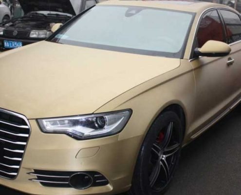 matte gold vinyl wrap brushed