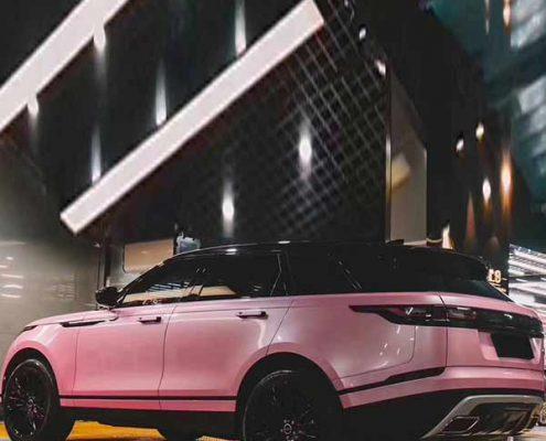pink vinyl wrap macaron for car decoration