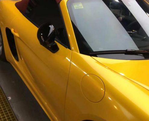 Yellow car wrap super gloss vinyl film