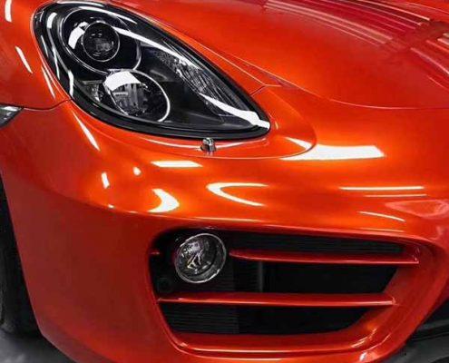 orange high gloss vinyl wrap car matellic film
