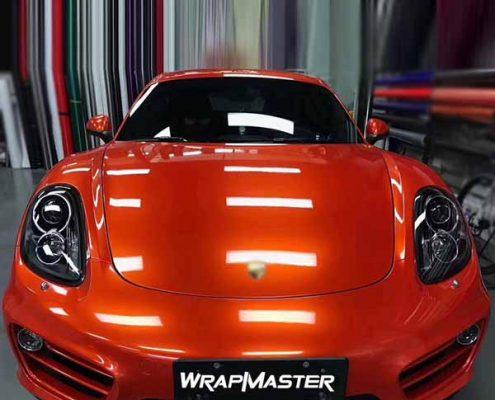 super gloss orange car wrap matel vinyl