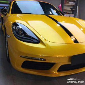 super gloss vinyl wrap yellow metallic car sticker