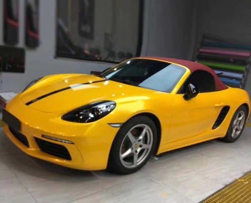 yellow car wrap super gloss vinyl