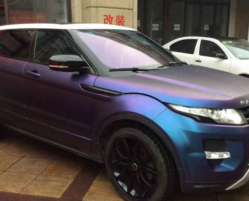 chameleon paint wrap purple to blue in China