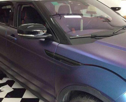 chameleon wrap purple to blue auto wrappen