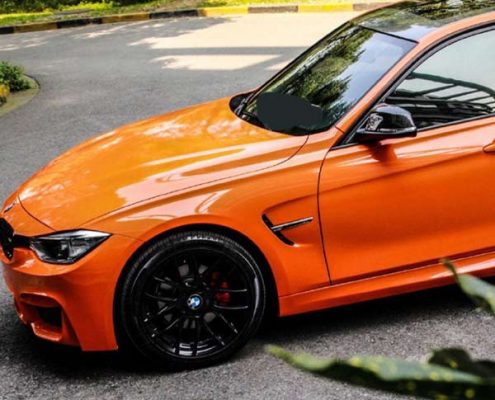 orange super gloss vinyl wrap