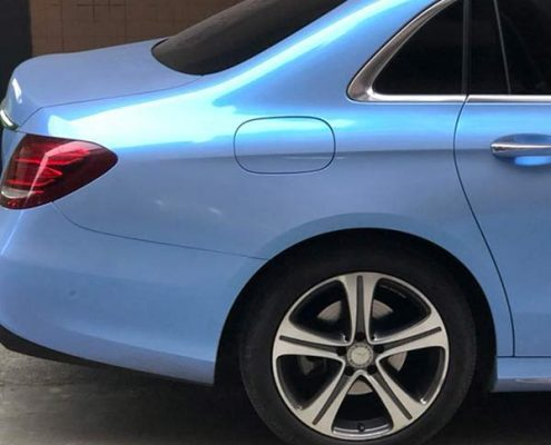 Twins colors candy grey blue gloss vinyl car
